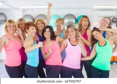 group of women at gym