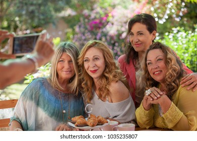 group of women party photo