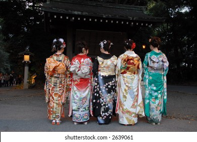 group of women visited a temple on new year eve