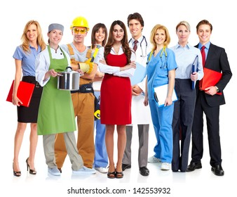 Group of workers. Business people team.