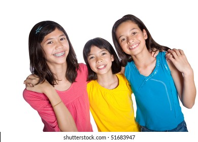 Group of young children from different background in studio
