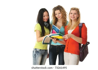 A group of young college girls