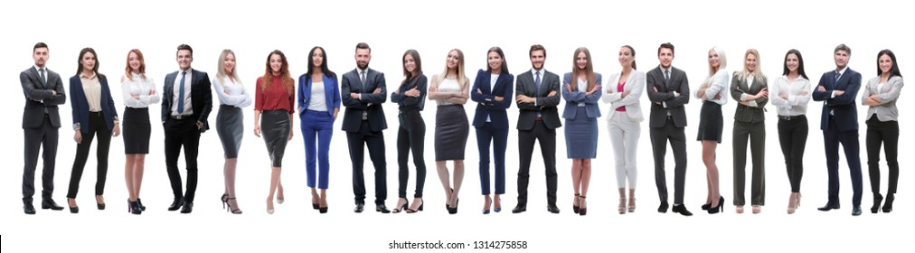 group of young entrepreneurs standing in a row