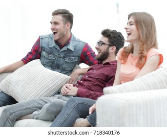 group of young people going on the couch.