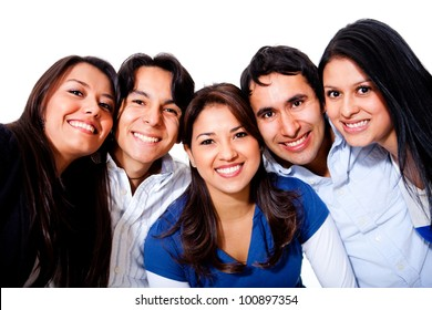 Group of young people smiling and having fun