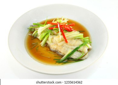 Grouper with soy sauce
