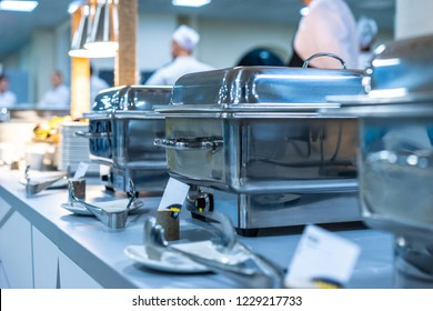 A Groups of Buffet in the Restaurant. Cuisine Culinary Buffet Dinner Catering Dining Food Celebration Party Concept.