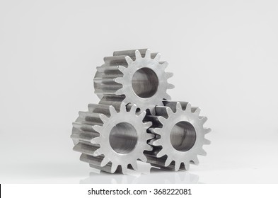 groups of gears on grey background