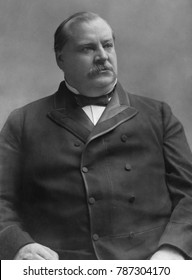 Grover Cleveland, 22nd US President, c. 1885. Cleveland was a conservative Democrat who opposed high tariffs, Free Silver, inflation, imperialism, and subsidies to business, farmers, or veterans. He f