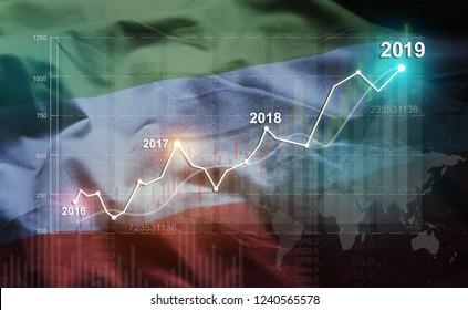 Growing Statistic Financial 2019 Against Republic of Dagestan Flag
