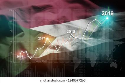 Growing Statistic Financial 2019 Against Sudan Flag
