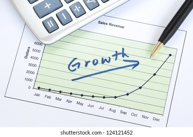 Growth in business concept of successful business