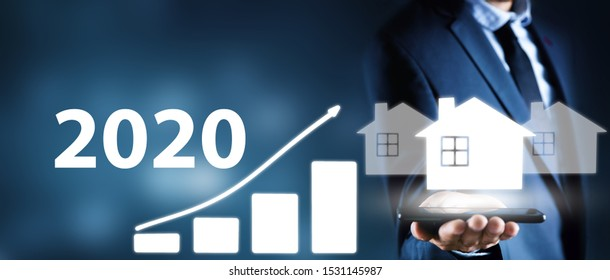 growth chart in 2020 with houses