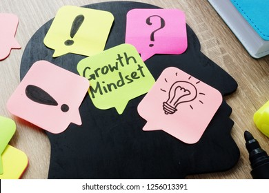 Growth Mindset written on a memo stick.