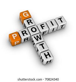 growth and profit (3D crossword orange series)