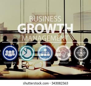Growth Strategy Management Mission Success Concept