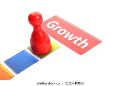 growth word showing financial success business concept