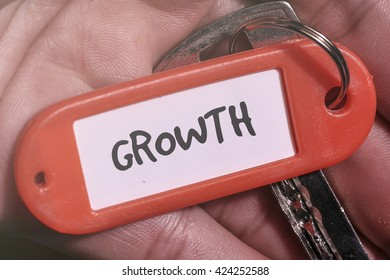 GROWTH word written on key chain