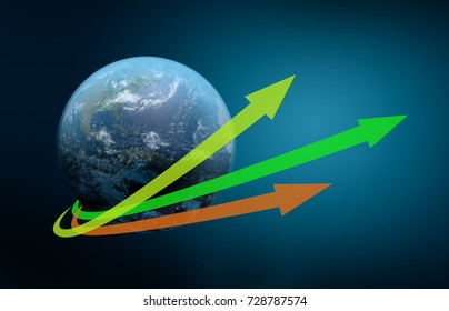 Growth of the world economy, Elements of this image furnished by NASA
