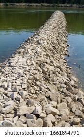 Groyne on the Drava River