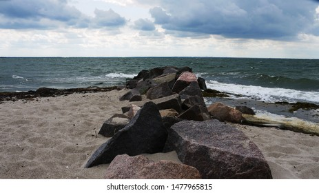 Groynes at the baltic sea in Mecklenburg-Western Pomerania