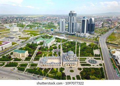 "Grozny is the capital city of the Chechen Republic, Russia.  Mosque ""The Heart of Chechnya"""