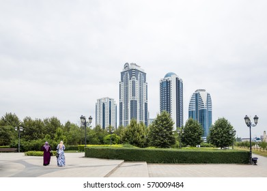 Grozny City Towers in Grozny, the capital of Chechnya, Russia
