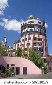 Gruene Zitadelle Hundertwasserhaus in Magdeburg, Germany