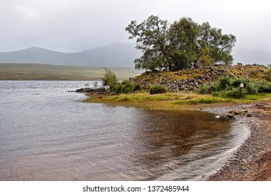 Grummore broch (site of ruins), Loch Naver and Ben Klibreck
