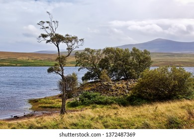 Grummore broch (site of ruins) on the banks of Loch Naver