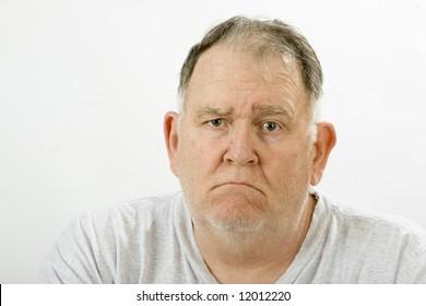 grumpy big guy ragged and unshaven