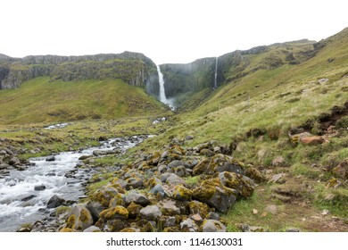 Grundarfoss, one of the largest waterfalls on the Snæfellsnes Peninsula in western Iceland.