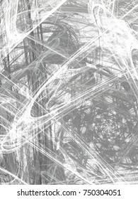 Grunge abstract gray background on white backdrop. Rectangular vertical shape. Average rough noise design.