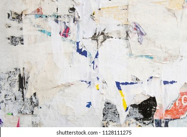 grunge abstract pattern of ripped and torn urban billboard street poster