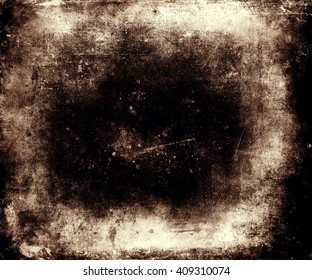 Grunge abstract textured background with black frame