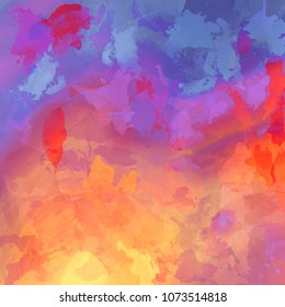 Grunge abstract watercolor background with stains, spots and blots.