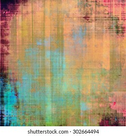 Grunge aging texture, art background. With different color patterns: yellow (beige); purple (violet); blue; green