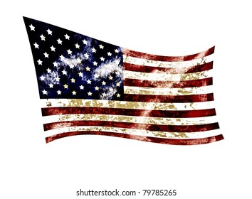 Grunge of america 4th july