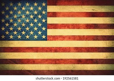 Grunge American flag. Retro stale.