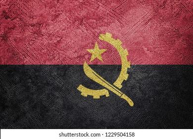 Grunge Angola flag. Angola flag with grunge texture.