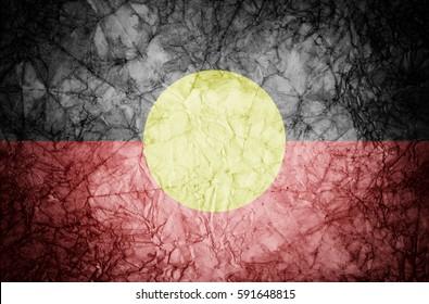 Grunge Australian Aboriginal flag.