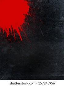 Grunge background with blood splatter