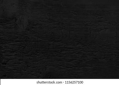 Grunge background. Burned wood texture. Black background