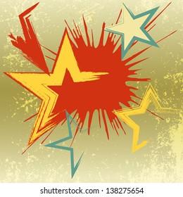 Grunge background of explosion star. Raster version - vector version in my portfolio.