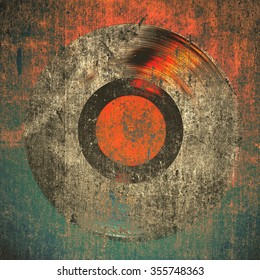 grunge background gramophone record