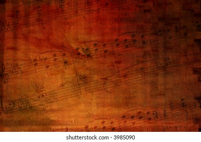 Grunge background with music