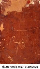 Grunge background, old brown vintage worn and damaged torn  retro hard book cover