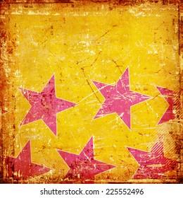 Grunge background with purple stars