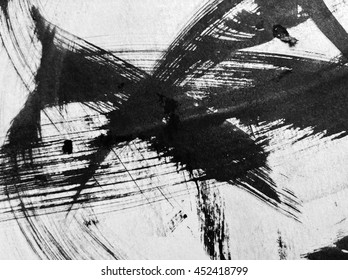 Grunge background with rough surface. Black ink on paper.White lines.
