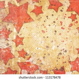 grunge background with stars